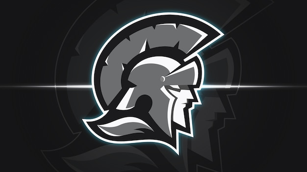Gabarit de logo spartan warrior