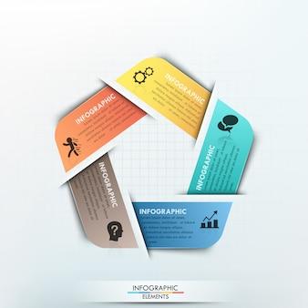 Gabarit de papier cycle infographie moderne