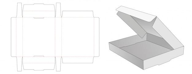 Gabarit prédécoupé de boîte d'emballage pliable en carton