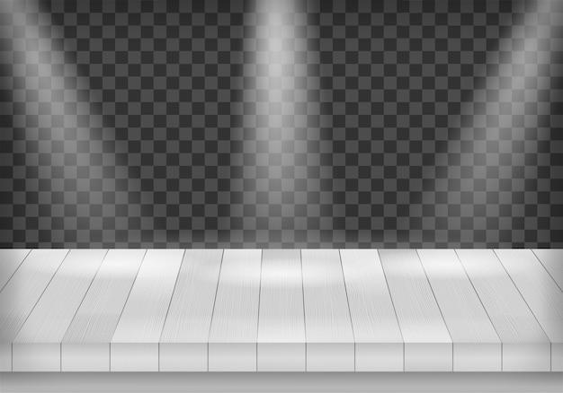 Gabarit de scène en bois de perspective