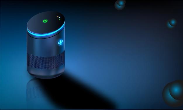 Gadget intelligent de reconnaissance vocale.