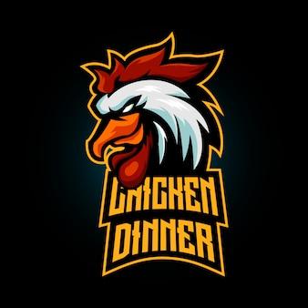 Gagnant gagnant mascotte de dîner de poulet