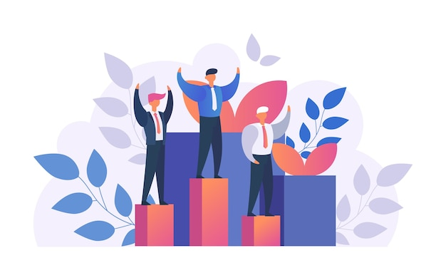 Gagnant de l'homme, homme d'affaires prospère avec les bras pour célébrer sa victoire isolée sur blanc. concept de succès ou de victoire, célébration. achivement, gagner des affaires, du leadership.