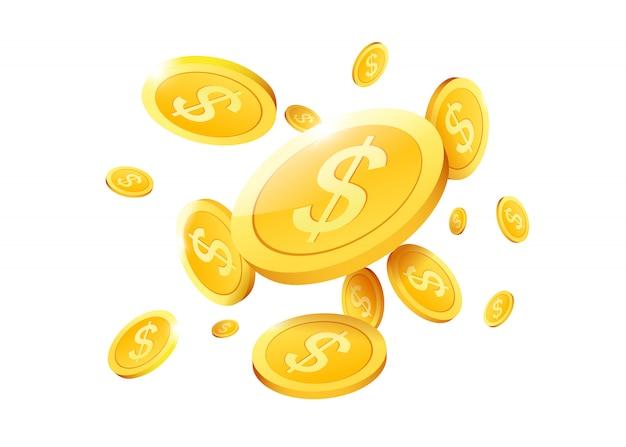 Gains d'or argent pluie