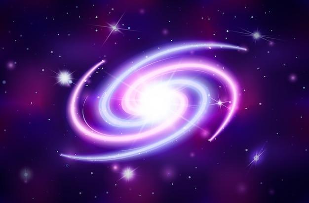 Galactique spirale brillante