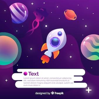Galaxie dégradée avec fond de fusée