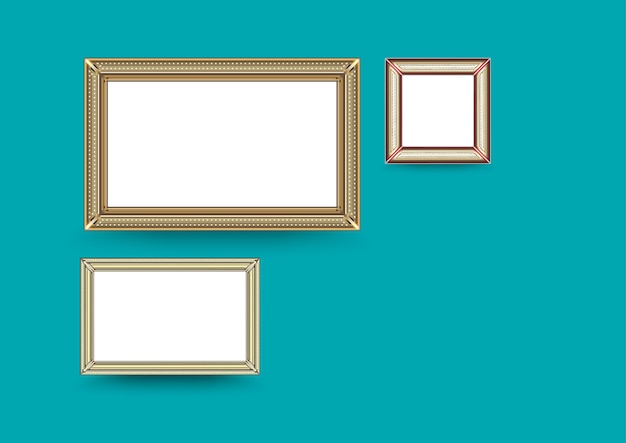 Galerie d'art photo sur mur vintage.