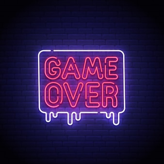 Game over enseigne au néon