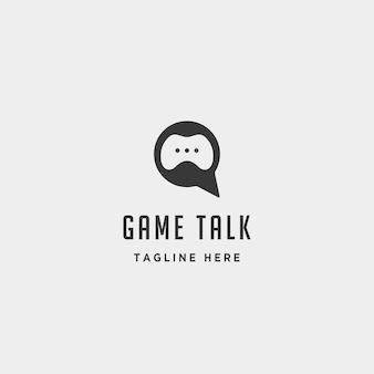 Game talk logo design template vector illustration icône élément - vecteur