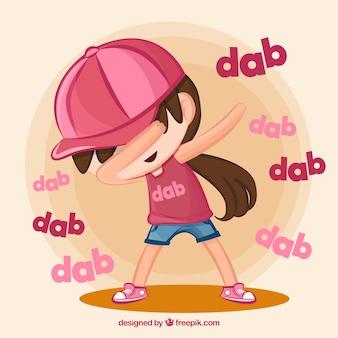 Gamin, faire, dabbing, mouvement