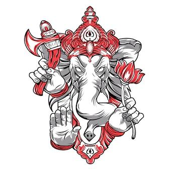 Ganesh est un dieu. la tête d'un éléphant.