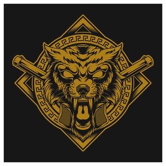 Gangster en colère golden wolf