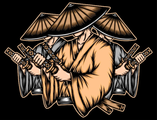 Gangster japonais ronin.