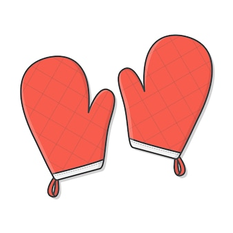 Gant de cuisine ou illustration d'icône de gant de four.
