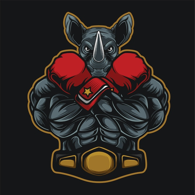 Gants de boxe rhino champion