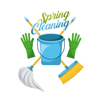 Gants de seau de nettoyage de printemps balai et balai