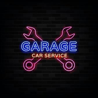 Garage car service enseignes au néon