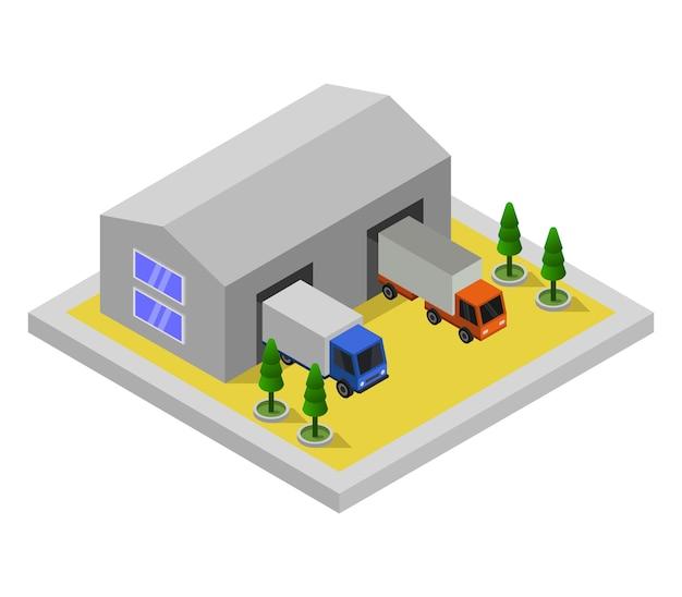 Garage isométrique