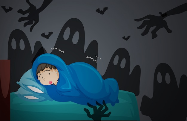 Un garçon en cauchemar