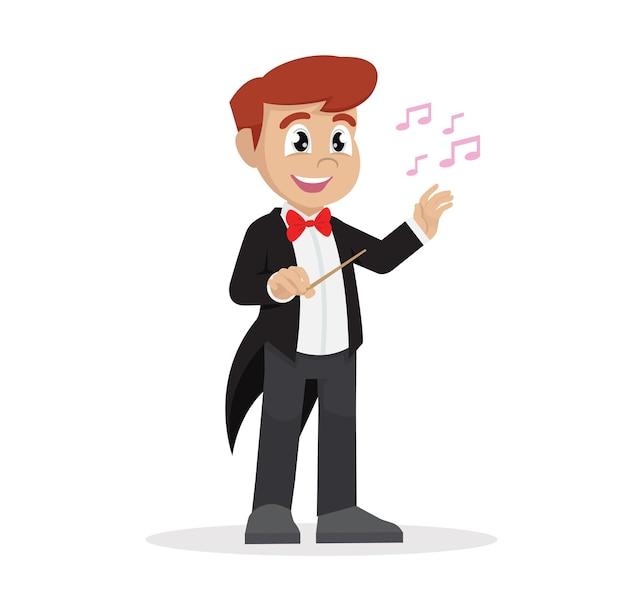 Garçon en chef d'orchestre.