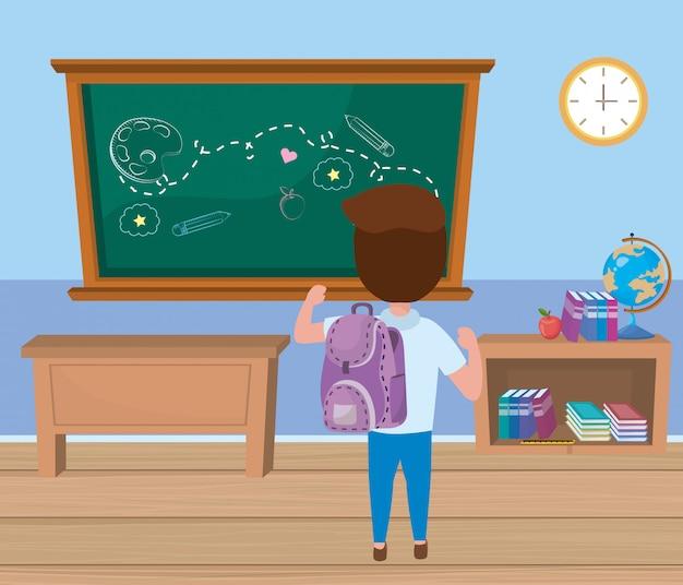 Garçon à l'école