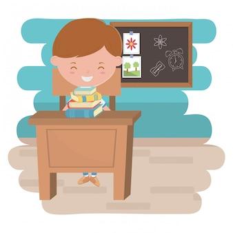 Garçon enfant de l'école