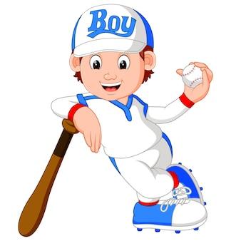 Garçon joueur de baseball