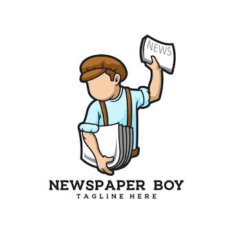 Garçon de journal rétro jeunes médias