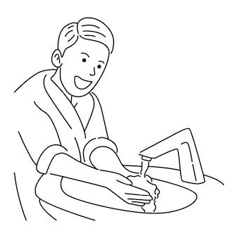 Garçon, laver la main