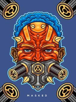 Garçon avec masque