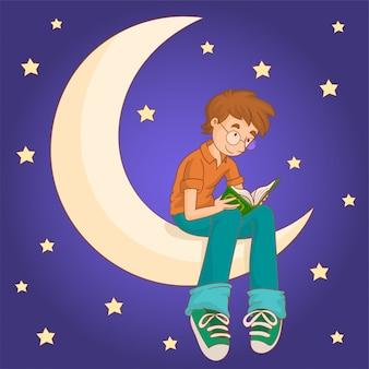 Un garçon musulman lisant le coran