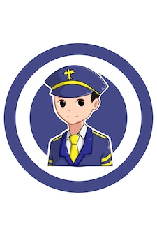 Garçon pilote en illustration de dessin animé de la fête du travail