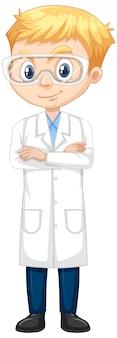 Garçon en robe de laboratoire