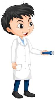 Garçon en robe scientifique