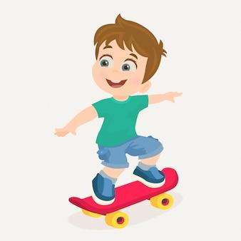 Garçon sur skateboard