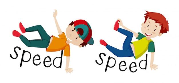 Les garçons et la vitesse des mots