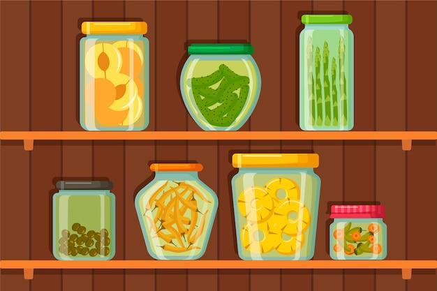 Garde-manger design plat sur cabine en bois