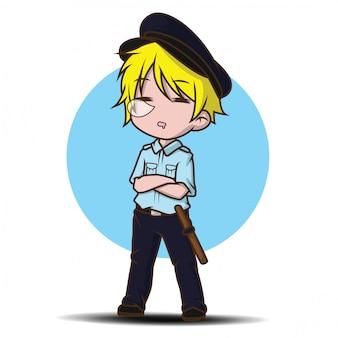 Garde de sécurité mignon dessin animé