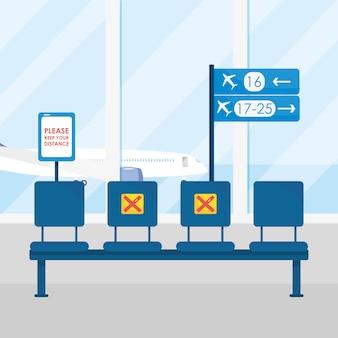 Garder les sièges à distance attendre les départs