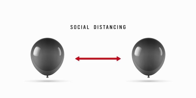 Gardez l'illustration abstraite de distance