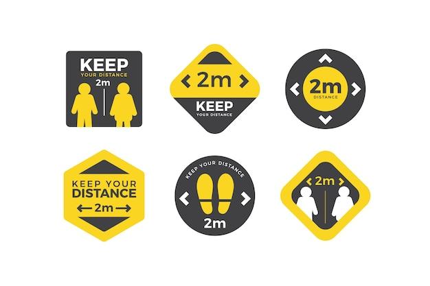 Gardez vos distances - collection de panneaux