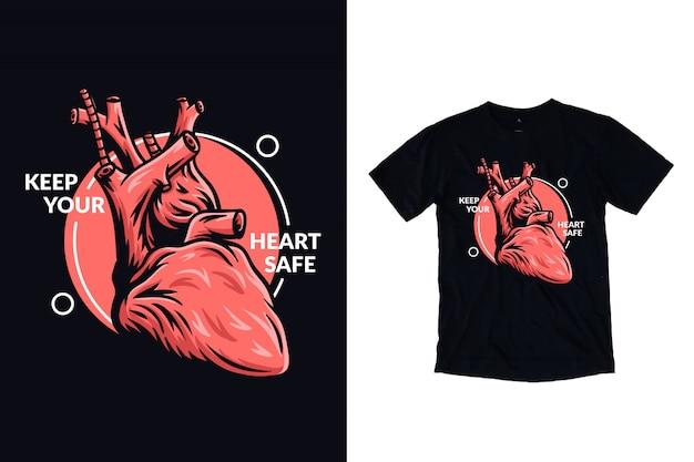 Gardez votre cœur en sécurité illustration pour t-shirt