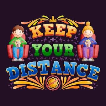 Gardez votre lettrage à distance