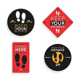 Gardez votre pack de panneaux de distance