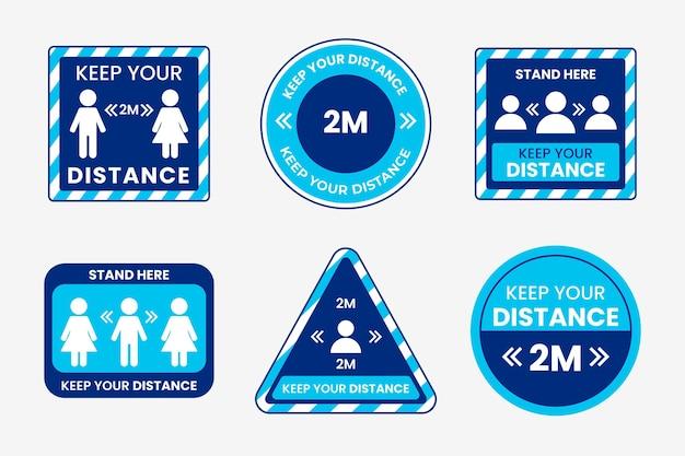 Gardez votre thème de pack de signes de distance