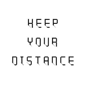 Gardez votre typographie à distance avec effet d'ombre