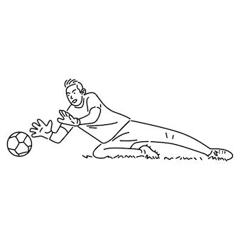 Gardien attraper le ballon