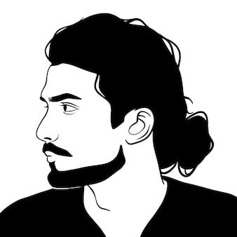 Gars avec la barbe