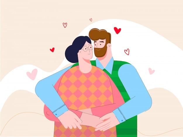 Le gars et la fille se serrent dans leurs bras