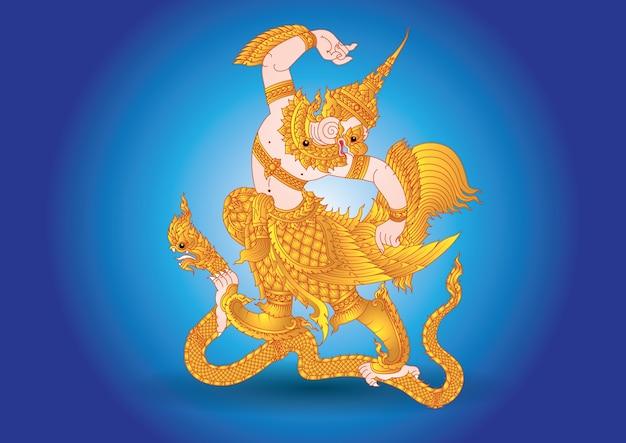 Garuda mouche grand brid dans la légende de la thaïlande